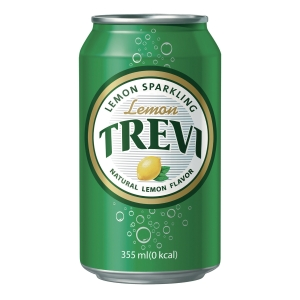 PK24 LOTTE TREVI SPARKLING WATER LEMON 355ML
