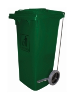 CLEANLINK TROLLEY BIN WITH PEDAL 240L GREEN - EACH