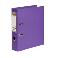 MARBIG LINEN LEVER ARCH FILE  A4 PURPLE - EACH