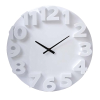 CARVEN 3D CLOCK FASHION 350MM WHITE - EACH