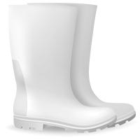 BATA JOBMASTER II GUMBOOTS WHITE/GRISTLE SIZE 6 WHITE - PAIR