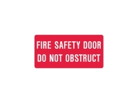FIRE SAFETY DOOR SIGN 300 X 225MM - EACH