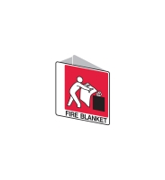 FIRE BLANKET ANGLED LOCATION SIGN 225 X 225MM - EACH