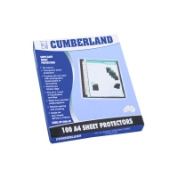 CUMBERLAND ECONOMY SHEET PROTECTOR A4 - BOX OF 100