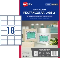 AVERY L7109 GLOSS PRODUCT LBL - 18UP 62X42MM PACK OF 10