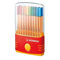 STABILO POINT 88 COLOUR PARADE FELT TIP PEN 0.4MM ASSORTED - BOX OF 20