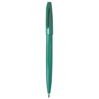 PENTEL S520 FELT TIP PEN 0.8MM GREEN - BOX OF 12