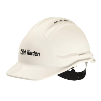 CHIEF FIRE WARDEN HARD HAT WHITE - EACH