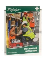 TRAFALGAR BASIC FIRST AID AND INSTRUCTIONS CARD - EACH