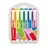 STABILO SWING COOL HIGHLIGHTER 1-4MM ASSORTED - WALLET OF 6