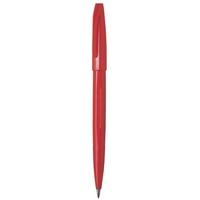 PENTEL SIGN S520 FELT TIP PEN 0.8MM RED - BOX OF 12