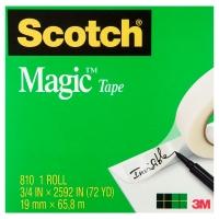SCOTCH MAGIC TAPE 810 19MMX66M - EACH