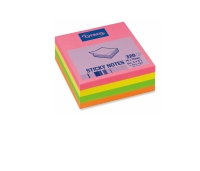 LYRECO REPOSITIONAL 320 SHEET CUBE 76 X 76MM ASSORTED NEON - EACH