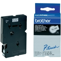 BROTHER TC291 TAPE 9MM BLACK ON WHITE - EACH