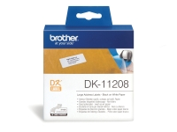 BROTHER QL LABEL LARGE ADDRESS LABEL DK11208 38X90MM WHITE - ROLL OF 400