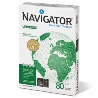 NAVIGATOR A4 UNIVERSAL PAPER 80GSM WHITE - BOX OF 5 REAMS