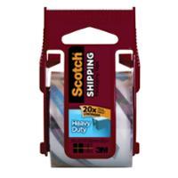SCOTCH 142 SUPER STRENGTH PACKAGING TAPE + DISPENSER 50MM X 20M CLEAR - EACH