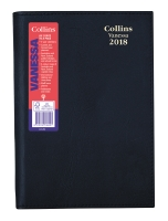 DIARY COLLINS VANESSA WIRO BOUND 2 DAYS TO A PAGE A4 BLACK