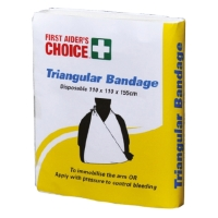FIRST AIDERS CHOICE SINGLE USE TRIANGULAR BANDAGE 110 X 155MM - EACH