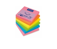 LYRECO REPOSITIONAL NOTES 76 X 76MM BRILLIANT COLOURS - PACK OF 6