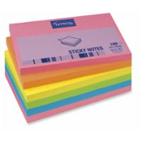 LYRECO REPOSITIONAL NOTES 76 X 127MM BRILLIANT COLOURS - PACK OF 6