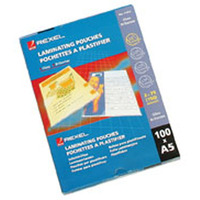 REXEL LAMINATING POUCH 75MICRON A5 GLOSS - PACK OF 100