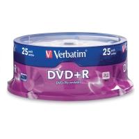 VERBATIM DVD+R 4.7GB 16X SPINDLE - PACK OF 25