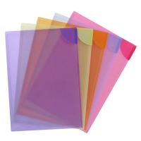 AVERY ASSORTED PLASTIC COLOUR LOCK FILES, 5 FILES, HOLDS 20 SHEETS