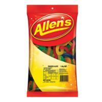 ALLEN S CONFECTIONARY SNAKES ALIVE CANDIES 1.3KG - EACH