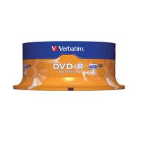 VERBATIM DVD-R 4.7GB 16X SPINDLE - PACK OF 25