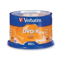 VERBATIM DVD-R 4.7GB 16X SPINDLE - PACK OF 50