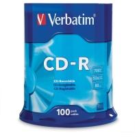 VERBATIM CD-R 80MIN/700MB 52X SPINDLE - PACK OF 100