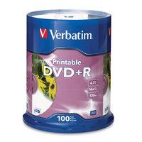 VERBATIM DVD+R INKJET PRINTABLE 4.7GB 16X SPINDLE - PACK OF 100