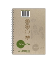 TUDOR 70% RECYCLED ECO HARD COVER NOTE BOOK A5 200 PAGE - EACH