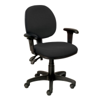 SEATING SOLUTIONS ERGO MEDIUM BACK TASK CHAIR BLACK - EACH
