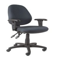SEATING SOLUTIONS ERGO100 HIGH BACK TASK CHAIR W/ARMS BLACK - EACH