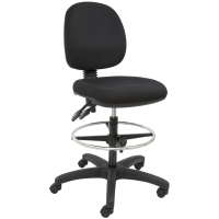 SEATING SOLUTIONS DRAUGHTMAN S CHAIR BLACK - EACH