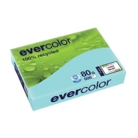 EVERCOLOR 100% RECYCLED PAPER 80GSM A4 LIGHT BLUE - REAM OF 500 SHEETS