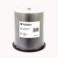 VERBATIM  CD-R INKJET PRINTABLE 80MIN/700MB WHITE 52X SPINDLE - PACK OF 100