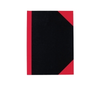 COLLINS 4100 FEINT RULED RED & BLACK NOTE BOOK A4 100 LEAF - EACH