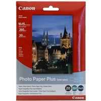 CANON INKJET SG201 SEMI-GLOSS PHOTO PAPER 260GSM 4 X 6  - REAM OF 20 SHEETS
