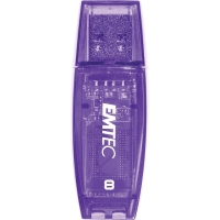 EMTEC C410 COLOUR MIX USB 8GB PURPLE - EACH