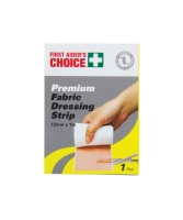 FIRST AIDERS CHOICE FABRIC DRESSING STRIP 7.2CM X 1M - EACH