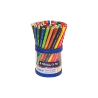 STAEDTLER NORIS CLUB MAXI LEARNER COLOR PENCILS ASSORTED + BONUS CUP - CUP OF 70