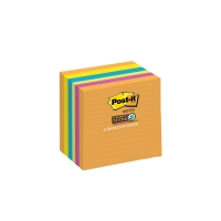 POST-IT LINED SUPER STICKY NOTES 76 X 76MM RIO DEJANIERO - PACK OF 5