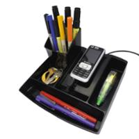 ESSELTE NOUVEAU PENCIL CADDY 190 X 180 X 45MM BLACK - EACH