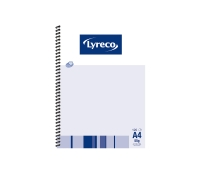LYRECO SPIRAL BOUND NOTE BOOK A4 120 PAGE - EACH