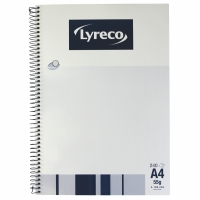 LYRECO SPIRAL BOUND NOTE BOOK A4 240 PAGE - EACH