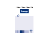 LYRECO SPIRAL BOUND TOP OPENING NOTE PAD 96 PAGE 112 X 76MM - EACH