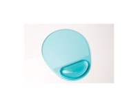 LYRECO MOUSE PAD WITH WRIST REST GEL CLEAR BLUE - EACH